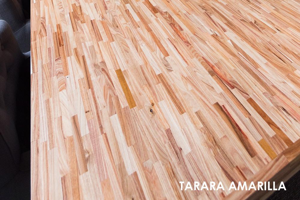 Tarara Amarilla hoogkant industrie tafel Chacowood